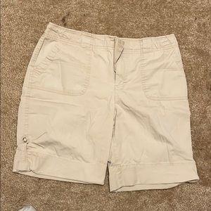 Khaki shorts size 10 worn back right pocket